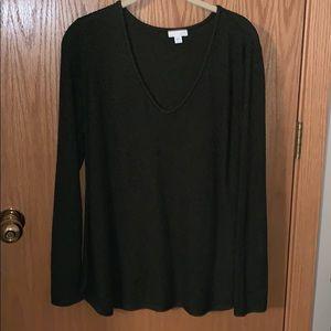 J Jill Green woven sweater Size Large